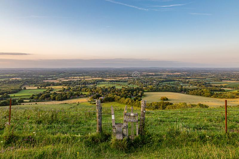 Ditchling Beacon View royalty free stock images