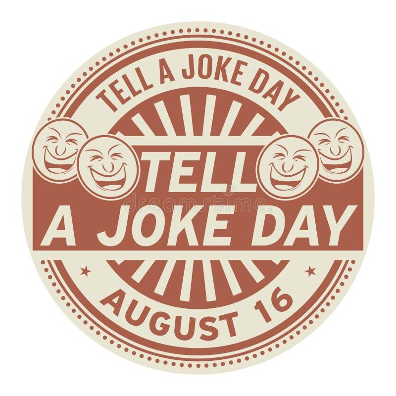 Dites un jour de plaisanterie, le 16 août illustration de vecteur