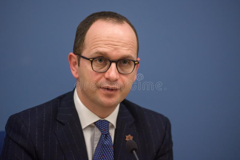 Ditmir Bushati, Albanian Minister of Foreign Affairs stock photos