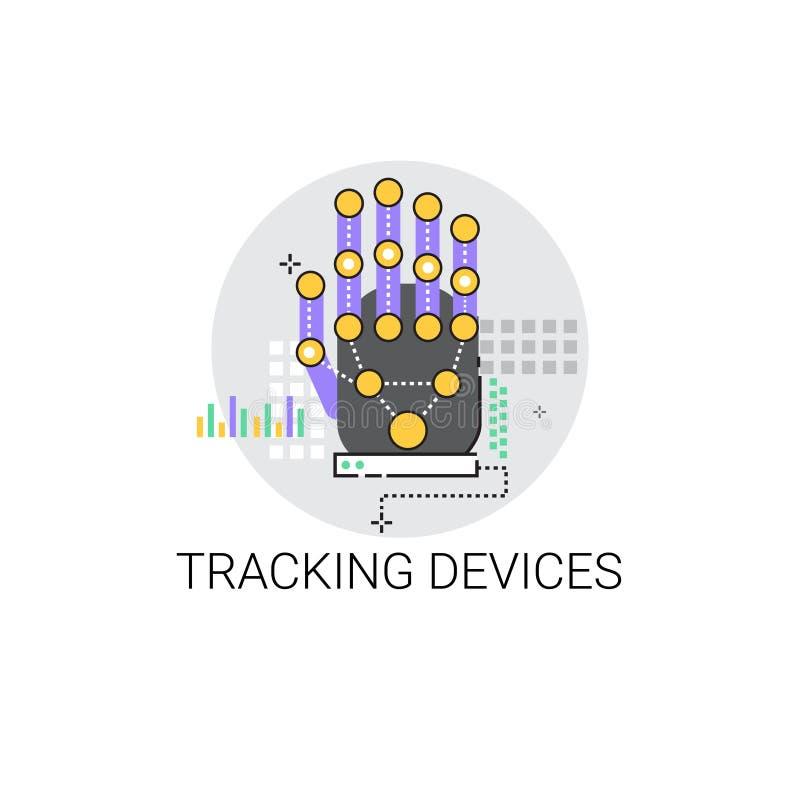 Dito che segue l'icona di tecnologia di Access del dispositivo illustrazione vettoriale