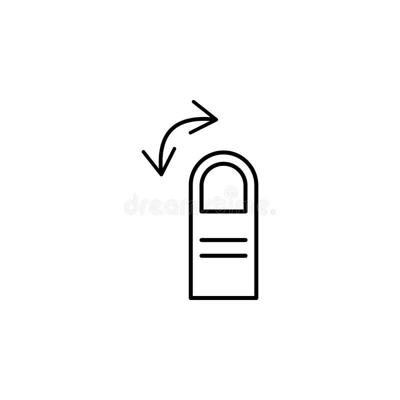 Dito, gesto, mano, icona media del profilo Elemento dell'icona semplice per i siti Web, cellulare app, grafici di informazioni Se illustrazione di stock