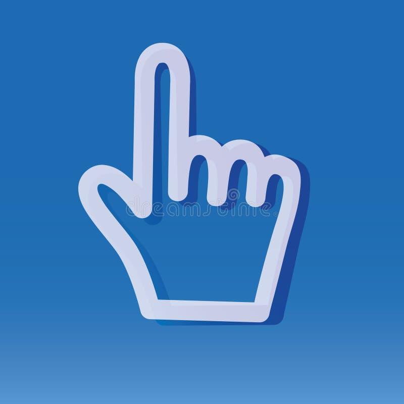 Dito indice del Internet royalty illustrazione gratis
