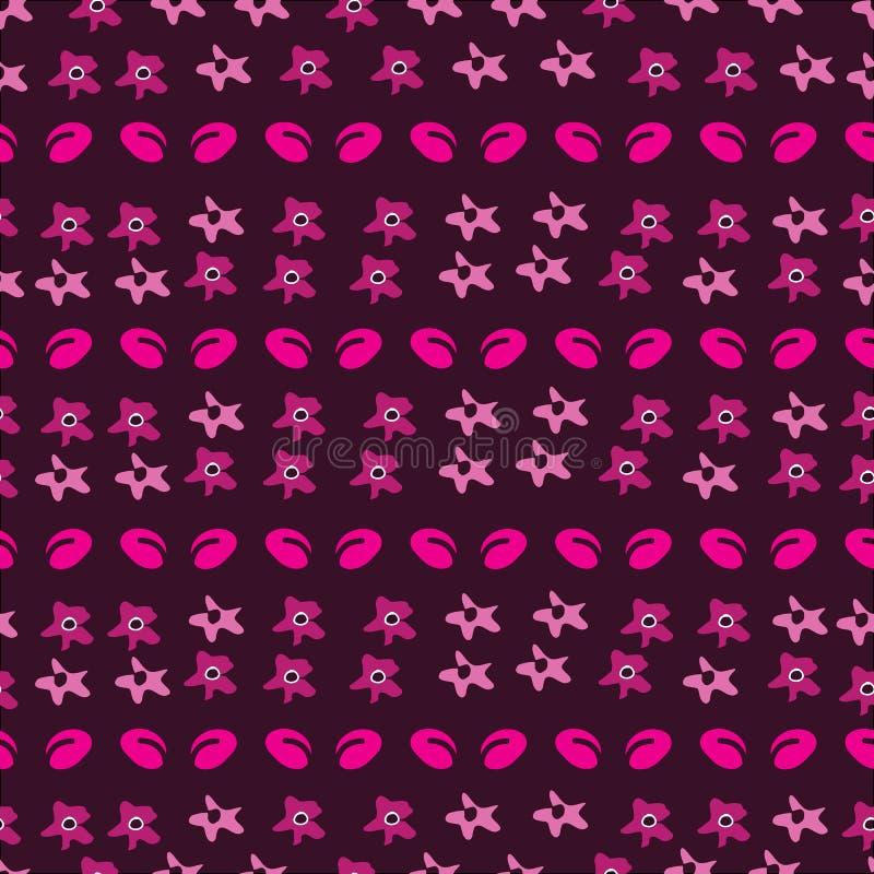 Ditsy-flores florales en la floración, modelo inconsútil de la repetición stock de ilustración
