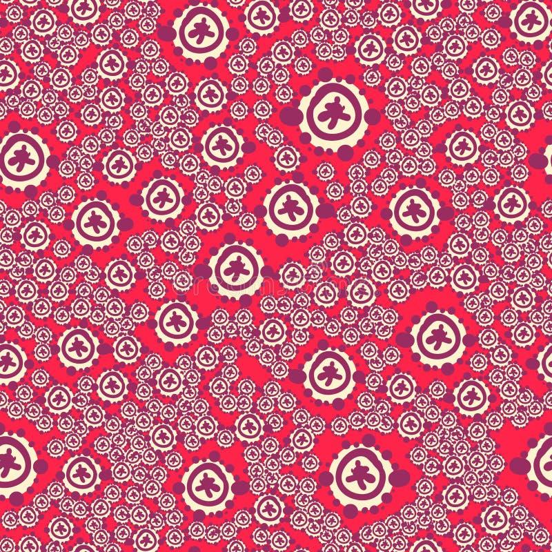 Ditsy Muster der romantischen naiven nahtlosen ursprünglichen Blume mit wilden Blumen, Sommerzeit, Natur in der Blüte, buntes Blu stock abbildung