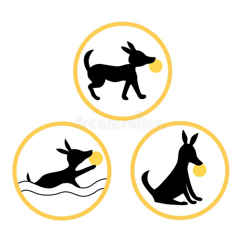 Ditt husdjur ska vara mästaren Utbilda precis dem royaltyfri illustrationer