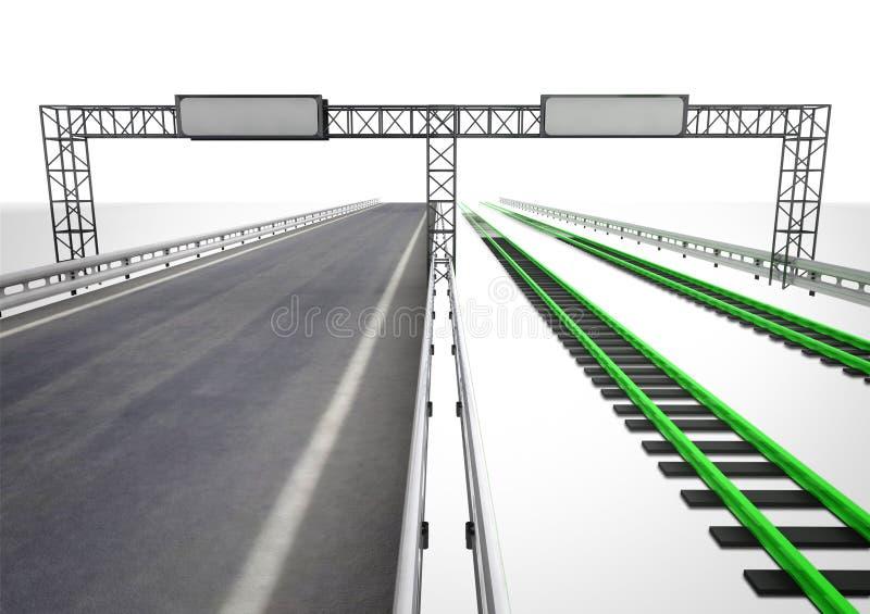 Ditt primat av mer hållbar transport stock illustrationer