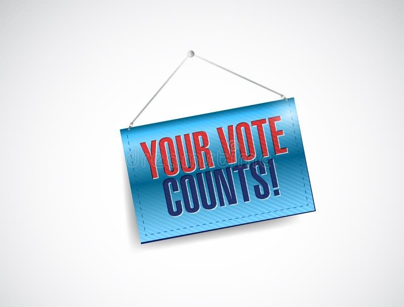 Ditt rösta räkningsbanerillustrationen vektor illustrationer
