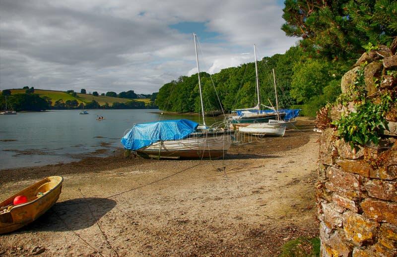 Dittisham op het Rivierpijltje, Zuidenhammen, Devon, het UK royalty-vrije stock foto's