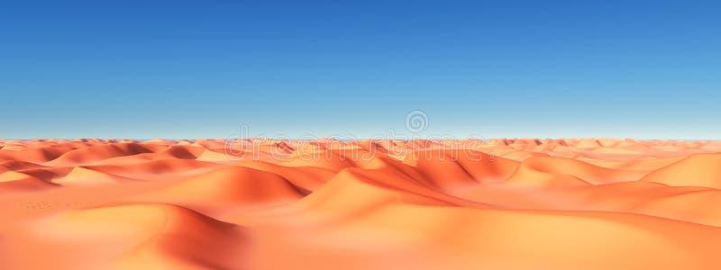diun horyzontu kosa kurshskaya Russia piasek kroczy rozciąganie ilustracji