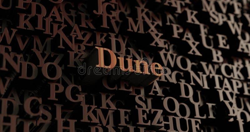 Diuna - Drewniani 3D odpłacający się listy/wiadomość royalty ilustracja