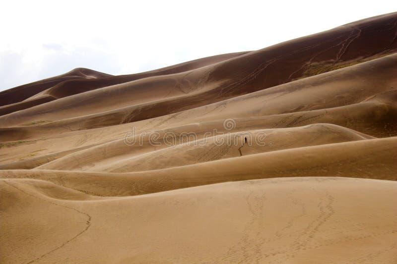 diuna piasek chodzącym ludzi fotografia stock