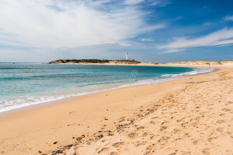 Diuny w naturalnej rezerwie Zahara De Los Atunes, Hiszpania zdjęcia royalty free