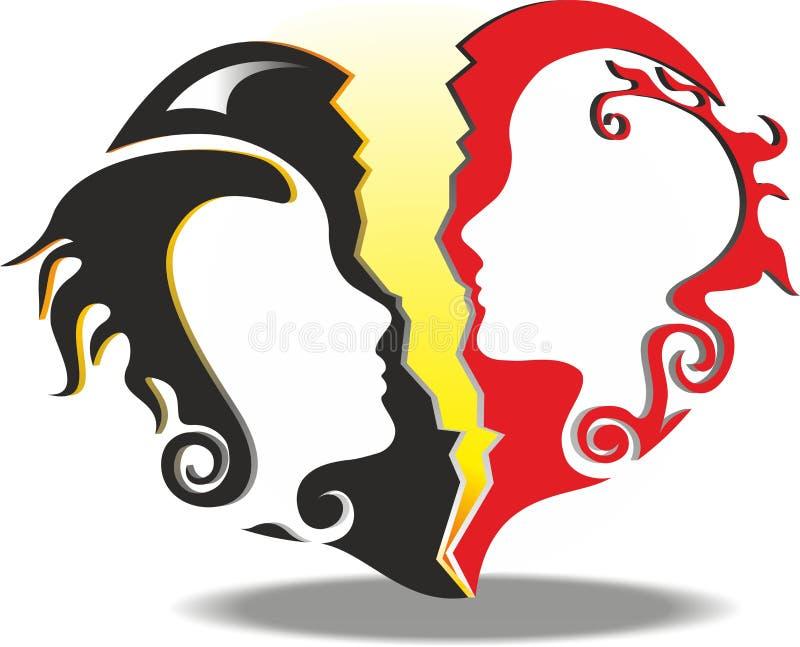 Divórcio ilustração royalty free