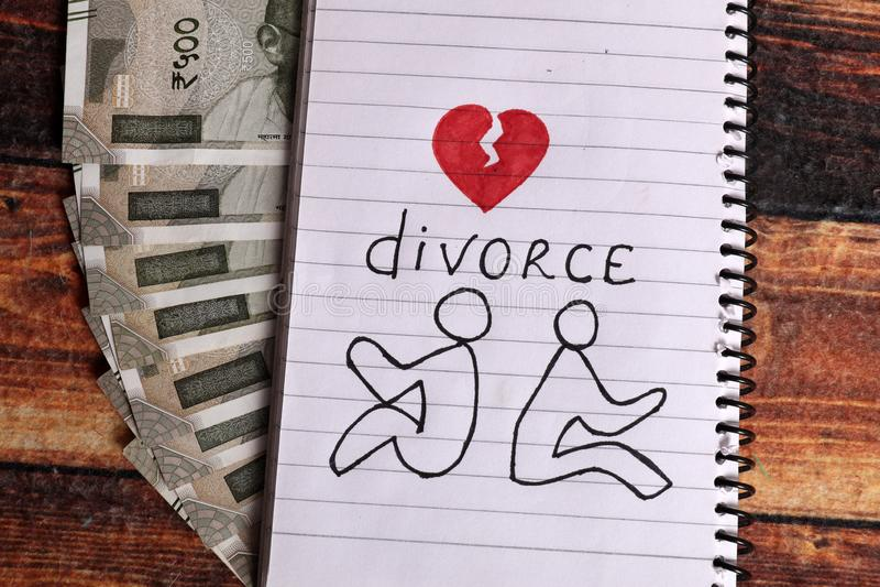 Divórcio imagens de stock