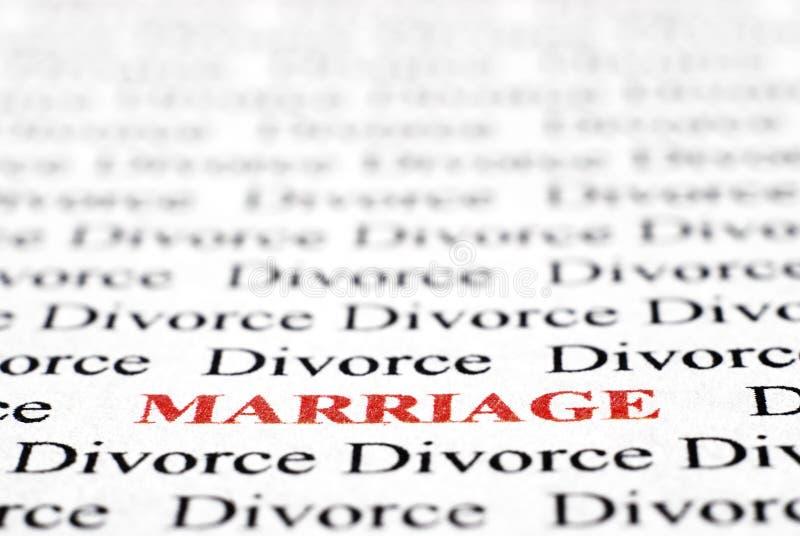 Divórcio e união foto de stock royalty free