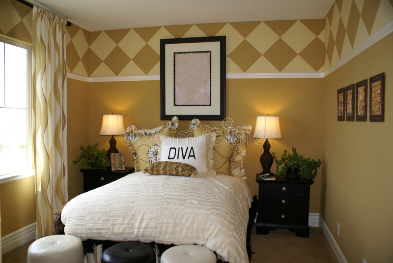 Diva Bedroom royalty free stock images
