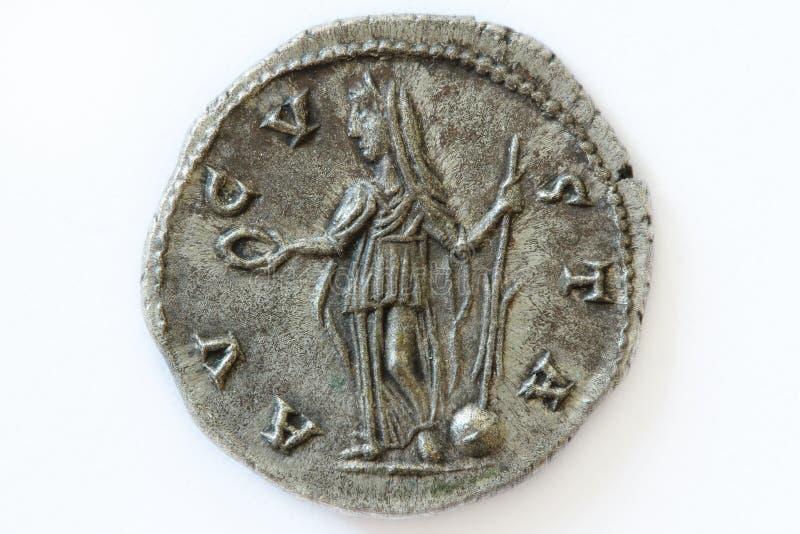 Diva Faustina roman coin. Roman silver coin, denarius of Roman emperor royalty free stock photography