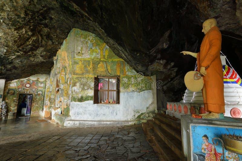 Diva Guhawa Caves-tempel in Ratnapura in Sri Lanka royalty-vrije stock foto