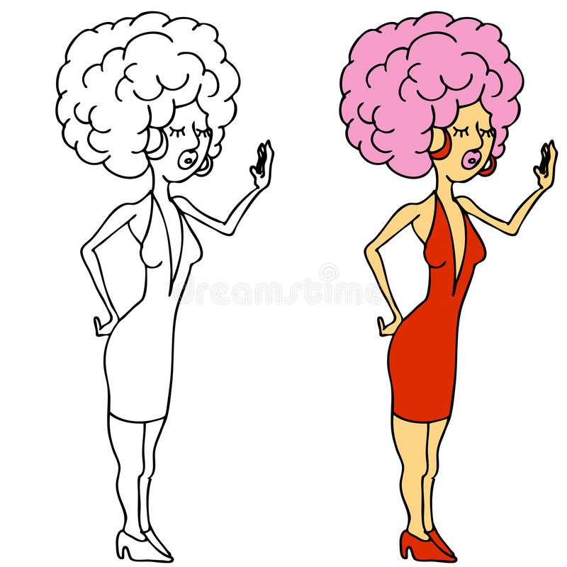 Download Diva Pose stock vector. Image of hair, drag, pink, clipart - 19390633