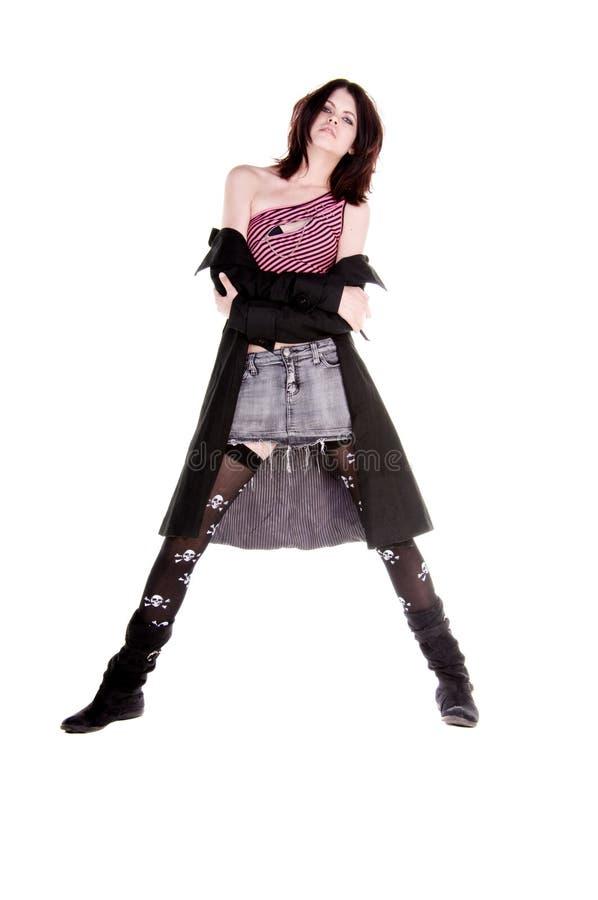Diva van Emo Houding stock fotografie