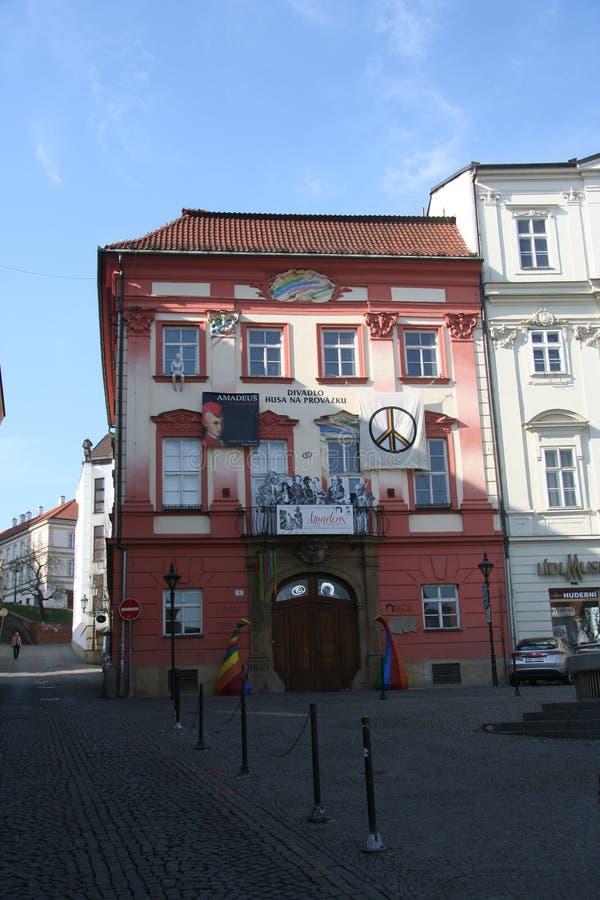 Divadlo Husa na provázku stock photography