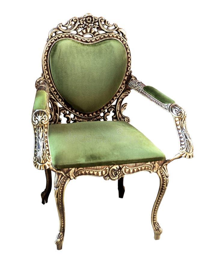 Divan classique de sofa de fauteuil de style d'or dans la chambre de vintage photo stock