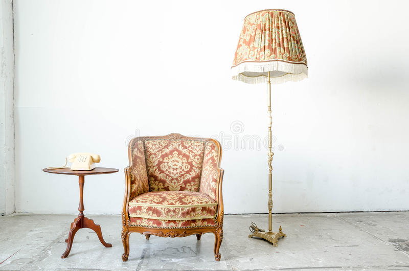 Divan classique royal de sofa de fauteuil de style images libres de droits