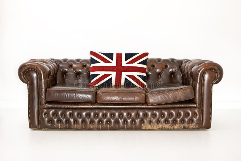 Divan de Chesterfield photographie stock libre de droits