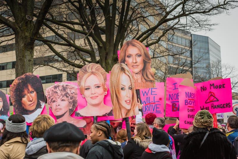 Divas - Maart van Vrouwen - Washington DC royalty-vrije stock fotografie