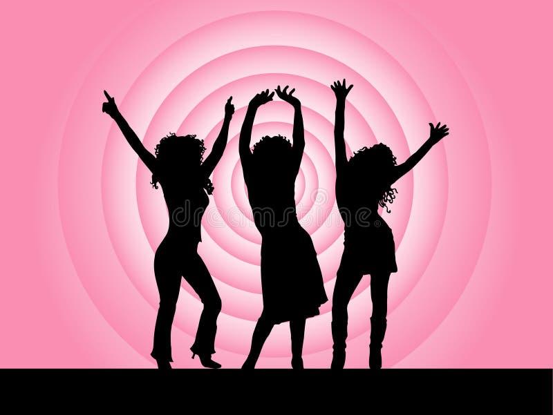 Divas van de disco royalty-vrije illustratie