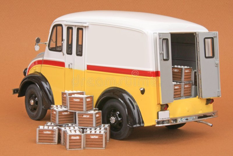 Divco Milk Delivery Van 1950 royalty free stock photo