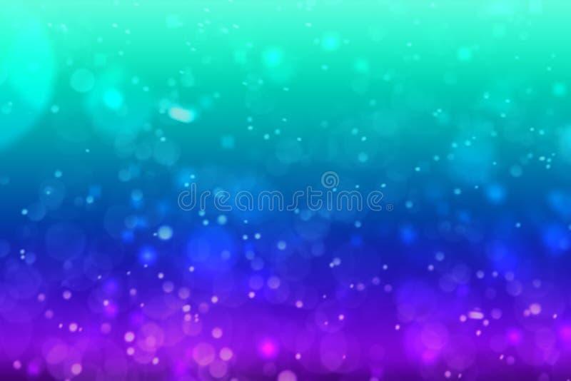 Dive Aqua vivid blue bokeh abstract background. For summer festival stock photos