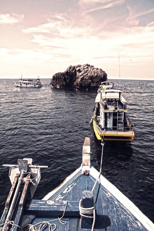 Dive Boat Parking image libre de droits