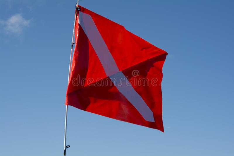 Dive flag stock images