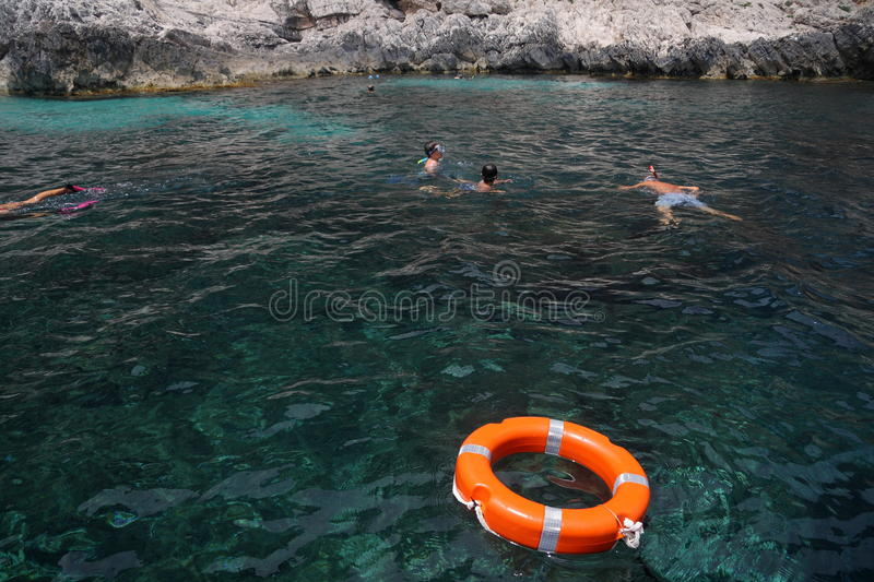 Dive by snorkel royalty free stock photos