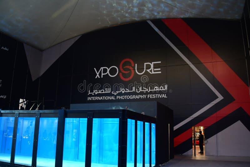 Dive Tank na expo internacional da fotografia de Xposure, Sharjah, 2017 fotografia de stock