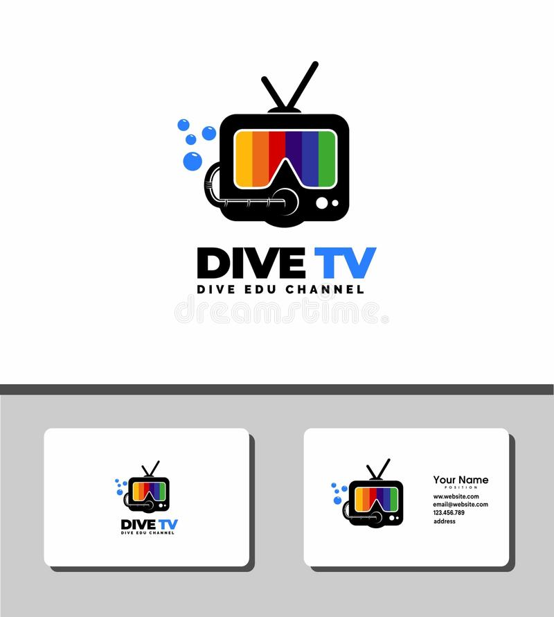 Dive tv logo royalty free stock images