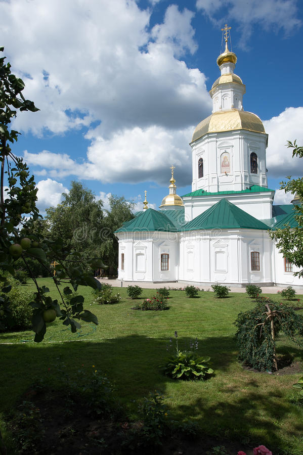 Diveevsky monastery. The Kazan Church. A small temple at the entrance to the monastery royalty free stock images