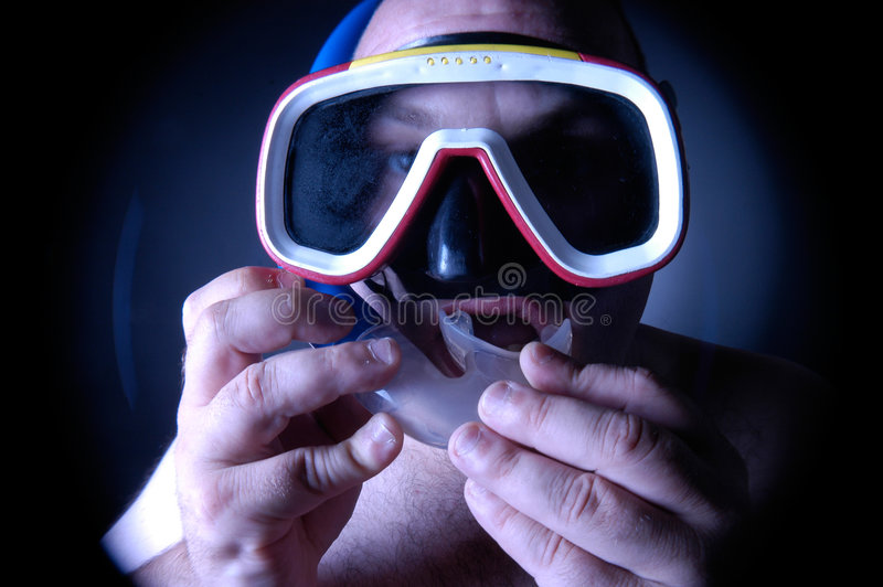 Download Diver stock image. Image of pool, breathe, diving, hand - 180123