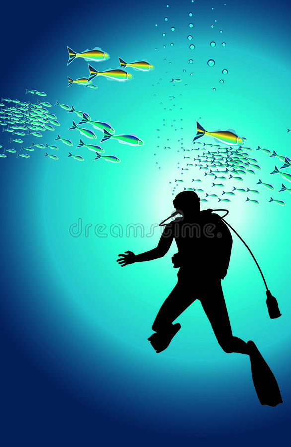 Download Diver stock illustration. Image of extreme, people, deco - 3347708