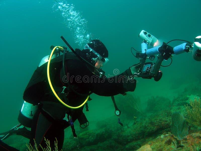Diver With Camera stock photos