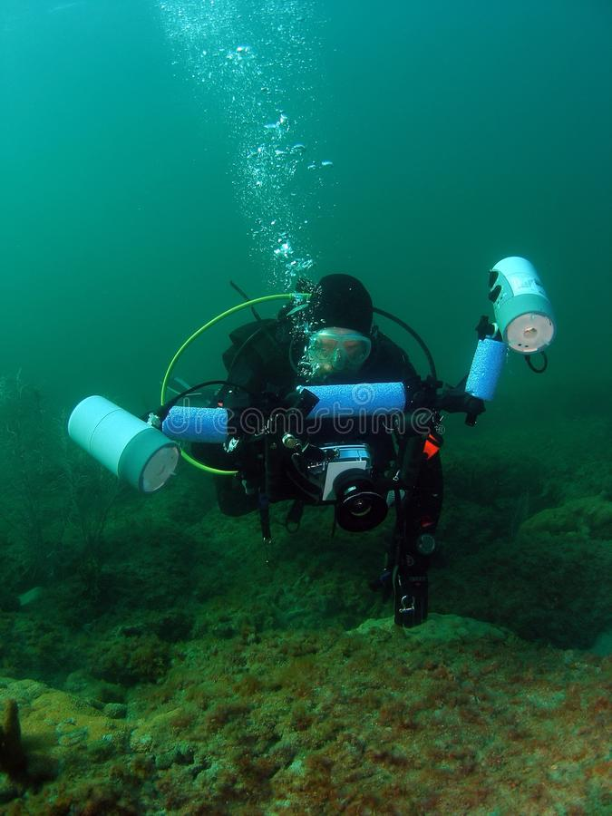 Diver With Camera royalty free stock image