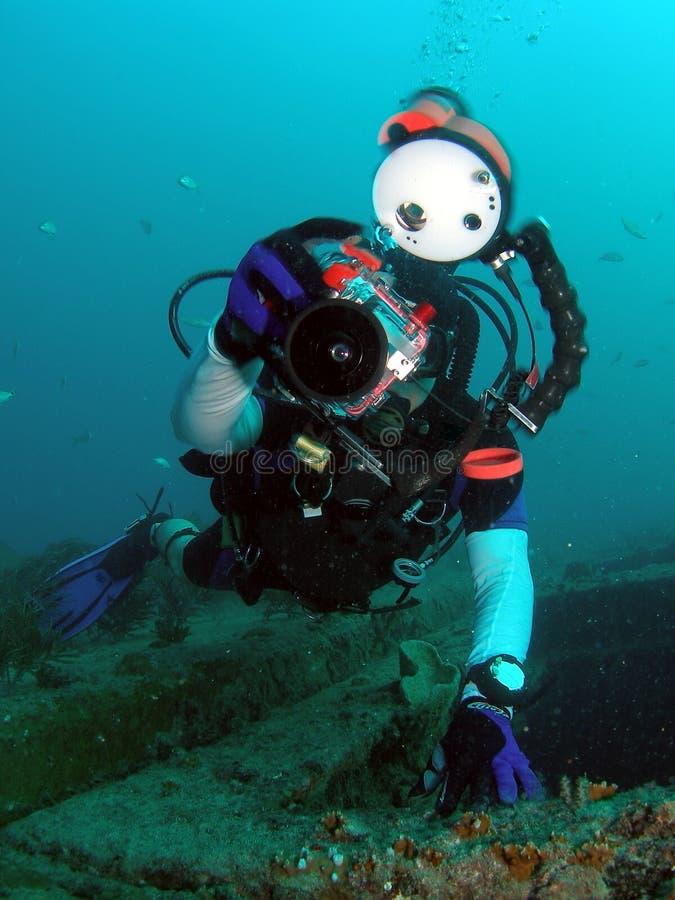 Diver and Camera royalty free stock photos