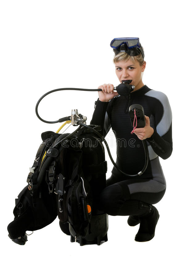 Download Diver checking pressure stock image. Image of looking - 22834951