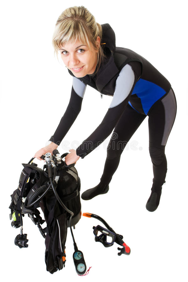 Download Diver Checking Pressure Stock Photos - Image: 23229423