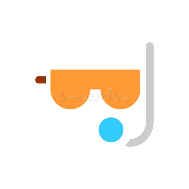 Diver flat icon. Scuba diving vector illustration. Swimming diver isolated. Eps 10 royalty free illustration