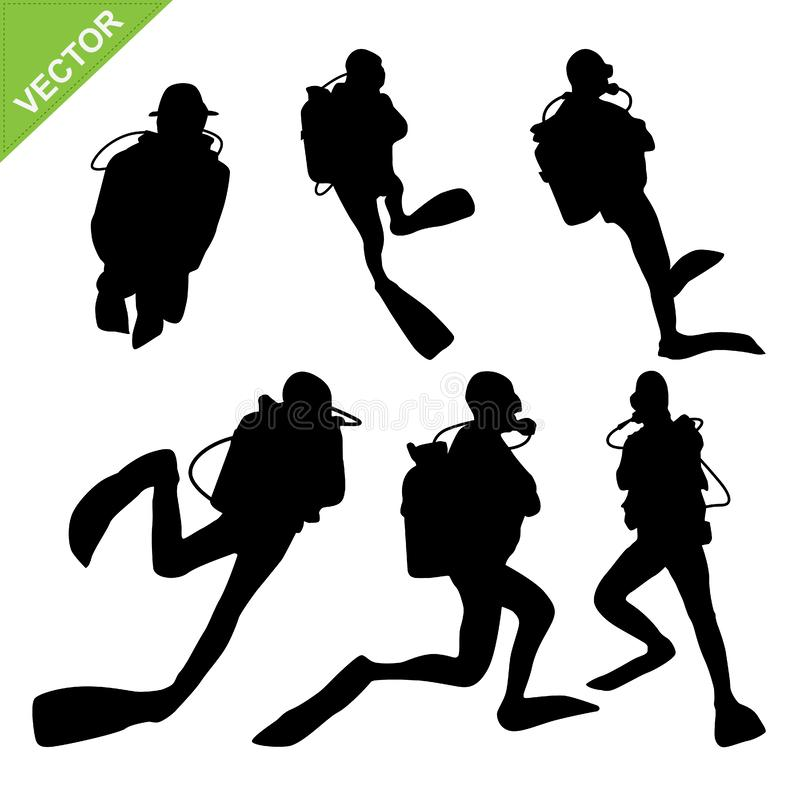 Free Diver Silhouette Vector Royalty Free Stock Photos - 83851198