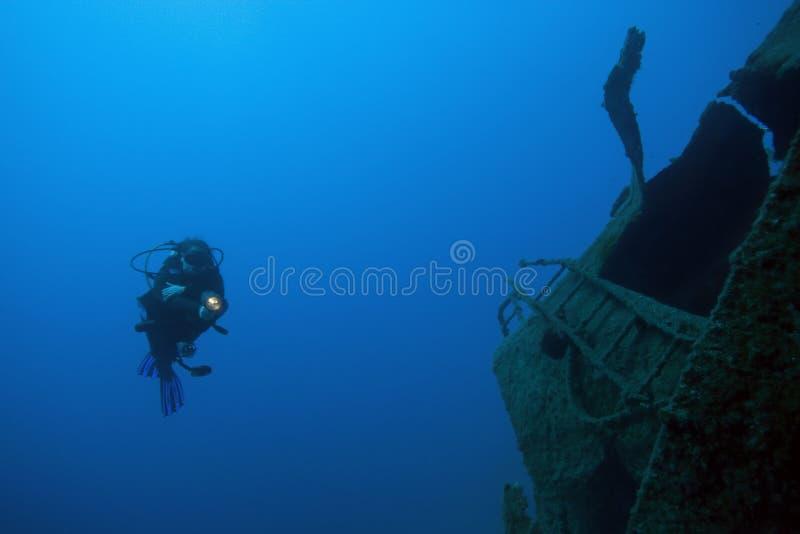 Download Diver Underwater - Deep Water Stock Image - Image: 12176841