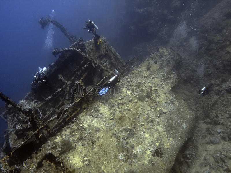 Download Diver and wreck stock photo. Image of boat, express, diving - 12734324