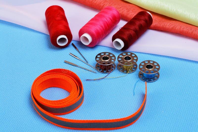 Divers accessoires pour la couture photo stock